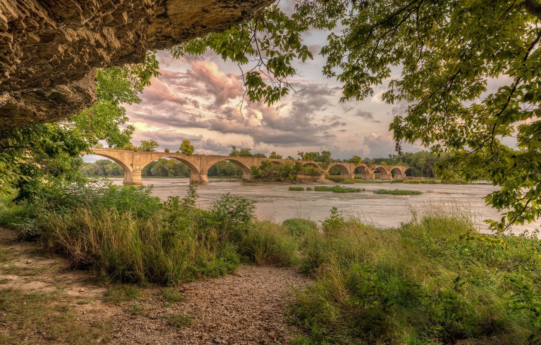 Фото обои пейзаж, мост, природа, красота