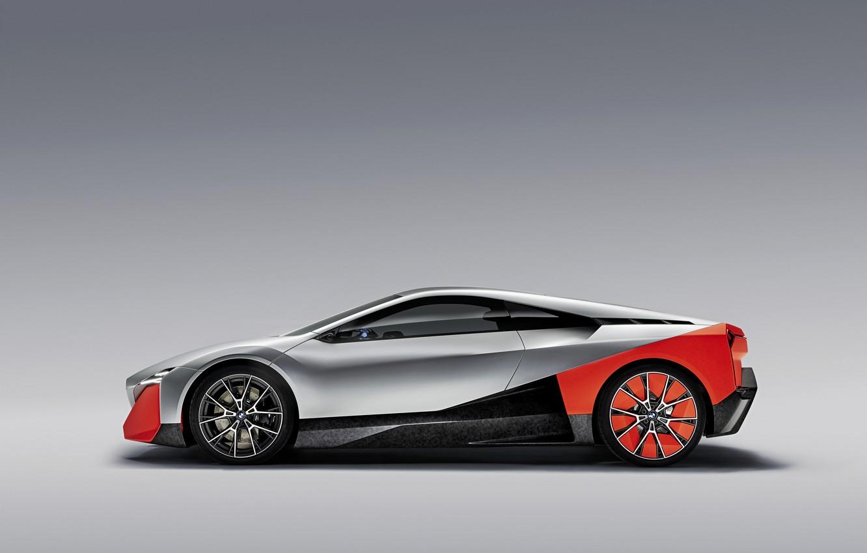 Фото обои фон, купе, BMW, профиль, 2019, Vision M NEXT Concept