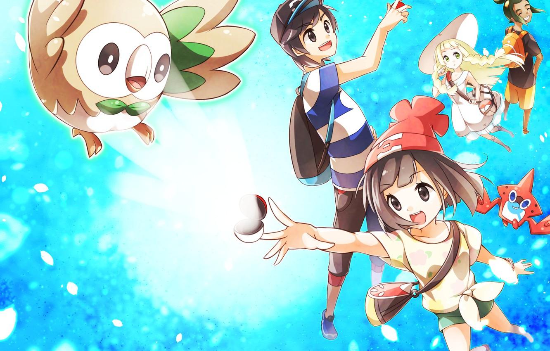 Фото обои дети, Pokemon, покемоны