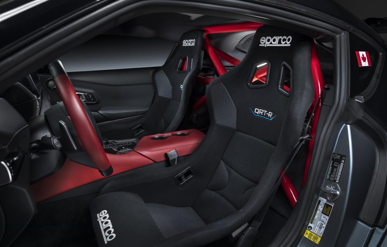 Фото обои серый, фон, купе, интерьер, Toyota, 2020, GR Supra Track Concept