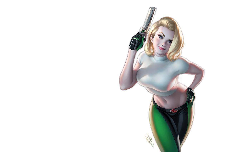 Фото обои девушка, оружие, арт, Warren Louw, Danger Girl #1 Gallery Edition