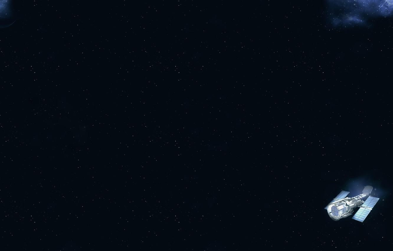 Фото обои Галактика, Звезды, Планета, Космос, Stars, Спутник, Planet, Galaxy, Satellite, Cosmos