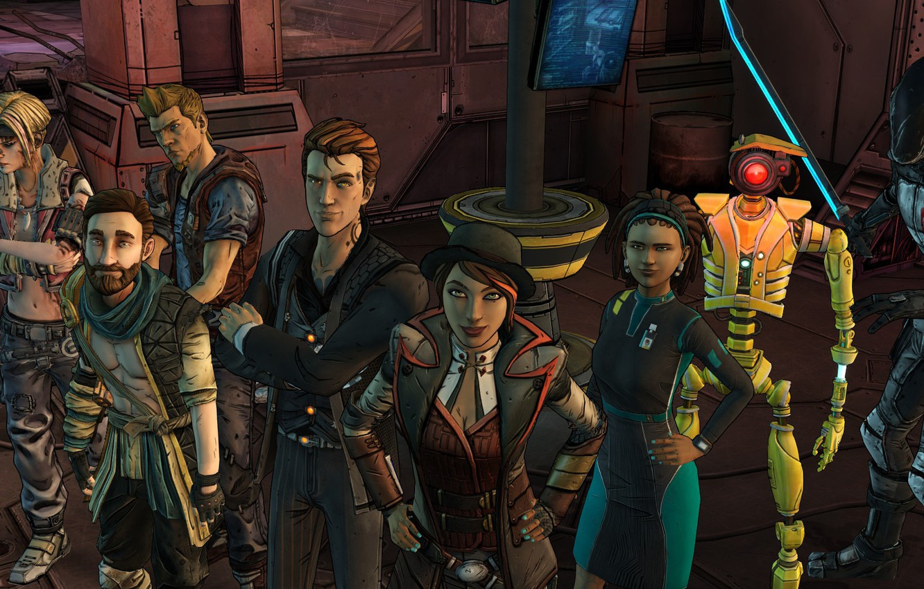 Фото обои Telltale Games, Fiona, Rhys, Tales From The Borderlands