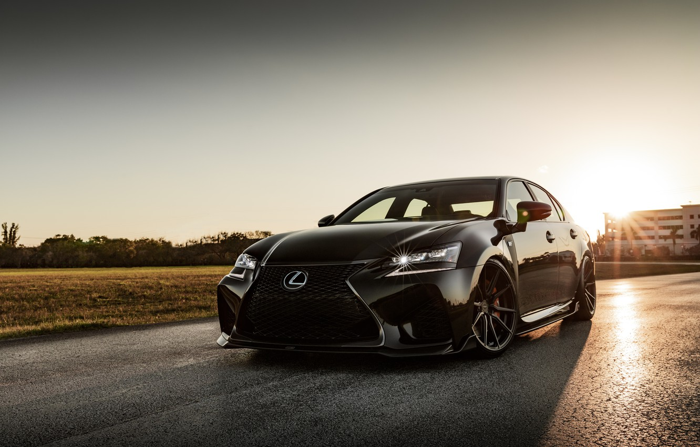Фото обои Lexus, Japan, Beautiful, Black, Sunset, Evening, GS-F