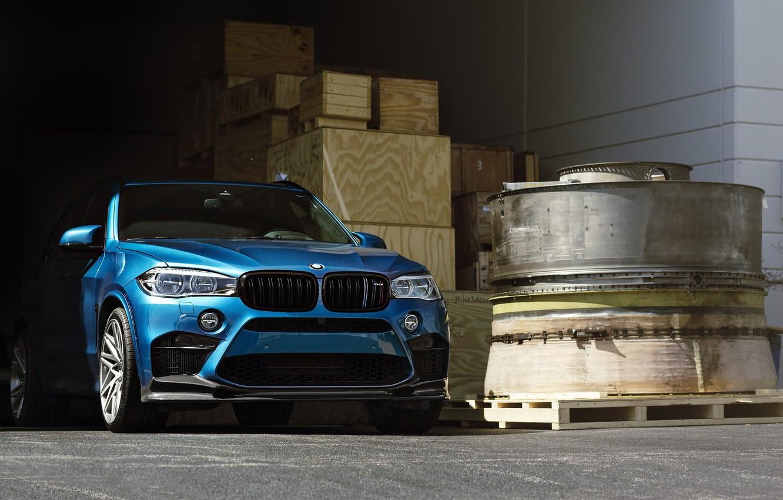 Фото обои BMW, Blue, Predator, X5M, Sight, F15