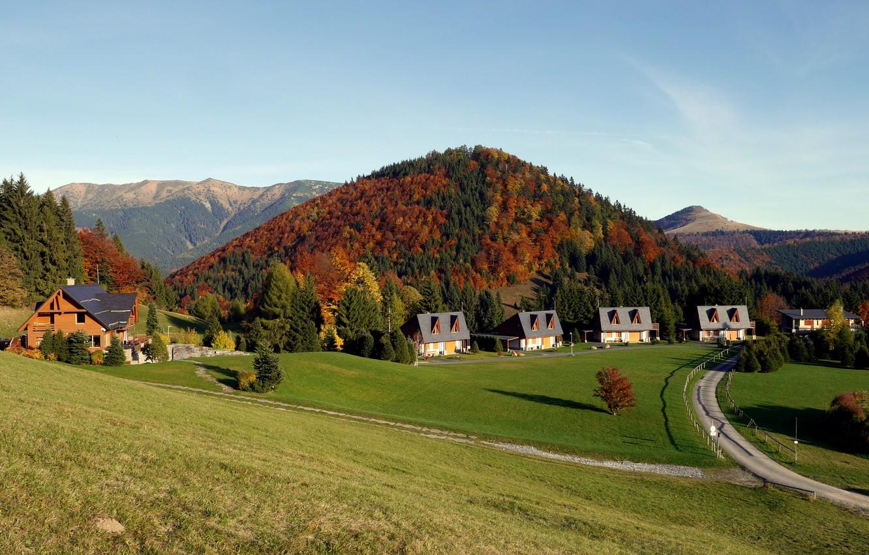 Фото обои осень, пейзаж, Словакия
