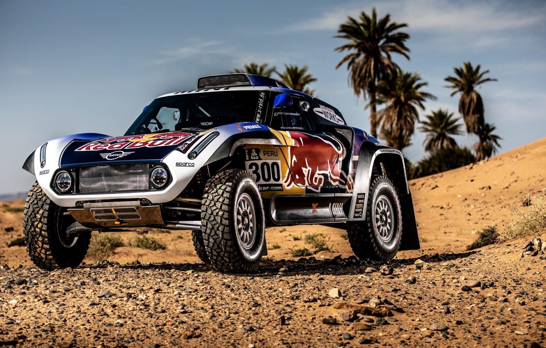 Фото обои Песок, Авто, Mini, Спорт, Машина, Автомобиль, 300, Rally, Dakar, Дакар, Ралли, Buggy, Багги, X-Raid Team, …