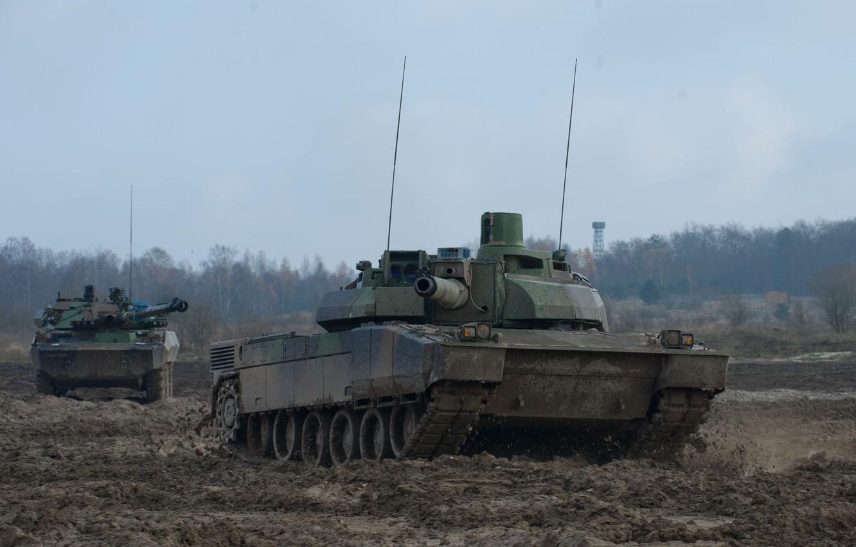 Фото обои ОБТ, French Army, Leclerc, Леклерк, AMX-56, AMX-10RC, MBT, ВС Франции, reconnaissance vehicle, БРМ
