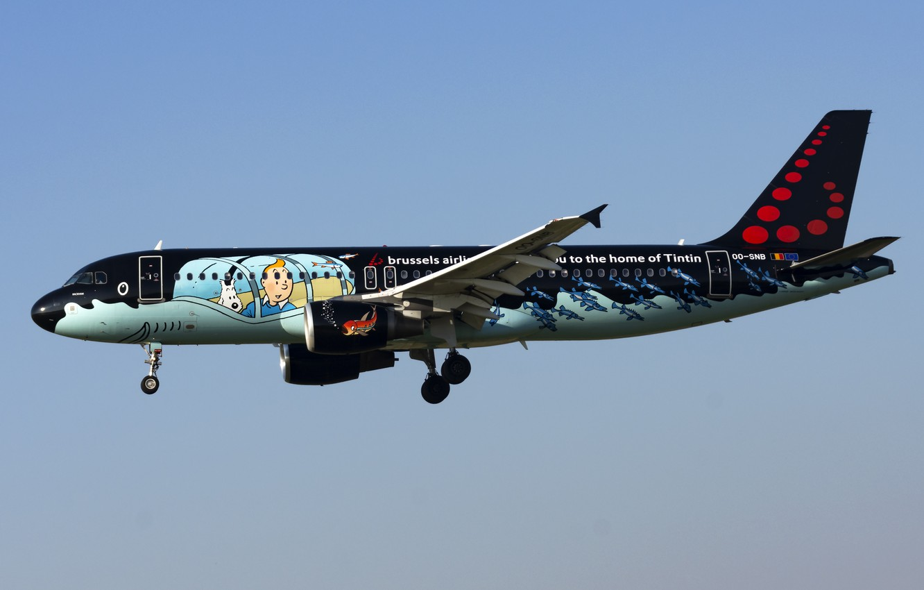 Фото обои Airbus, Brussels Airlines, A320-200