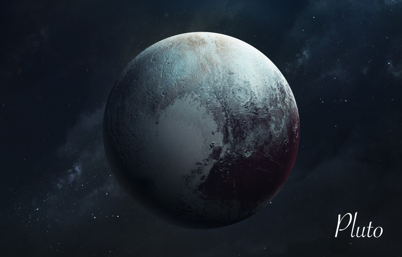Фото обои Звезды, Планета, Космос, Плутон, Арт, Stars, Space, Art, Planet, Universe, Galaxy, Система, Pluto, Science Fiction, ...