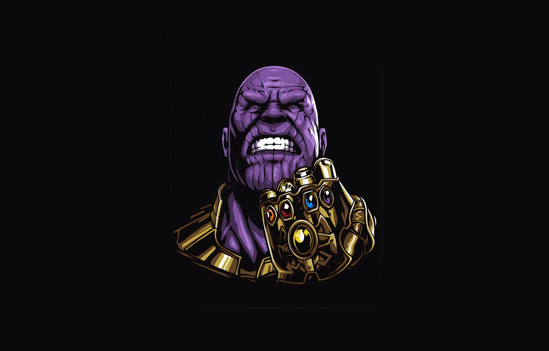 Фото обои минимализм, Minimal, Thanos, Танос