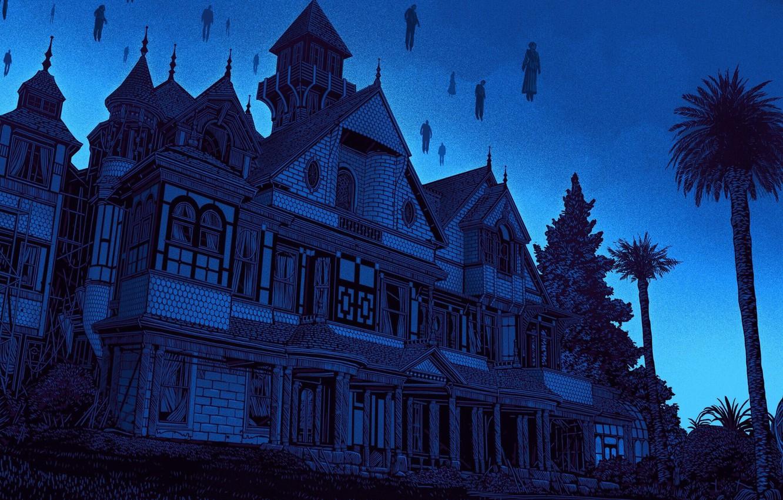 Фото обои Art, Illustration, Daniel Danger, Winchester Mystery House