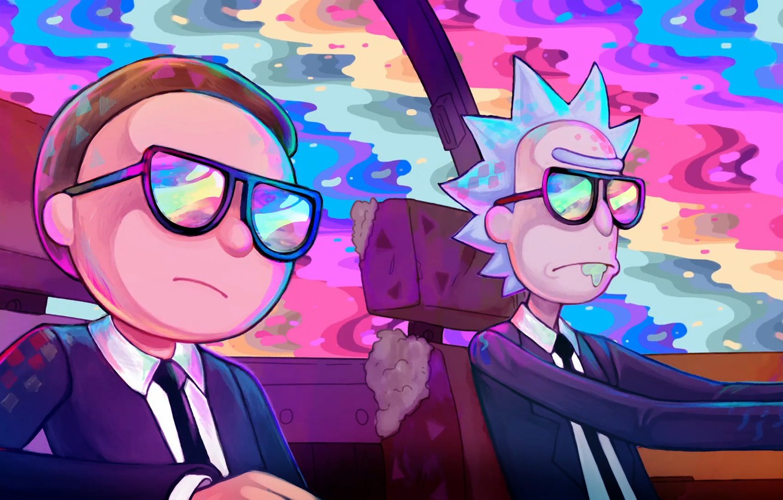 Обои очки, Smith, Morty Smith, Morty, Рик и Морти, Sanchez, rick, костюмы, Мультфильм, Rick and Morty, Rick Sanchez. Фильмы foto 6