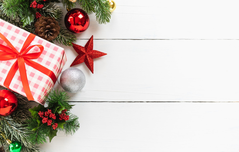 Фото обои украшения, Новый Год, Рождество, подарки, Christmas, wood, New Year, decoration, xmas, gift box, Merry, fir …