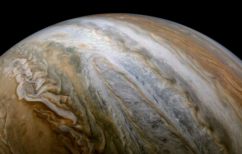 Фото обои Юпитер, Юнона, Jupiter, Juno, Kevin Gill