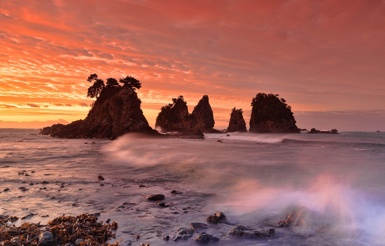 трубы фото японского моря закат алекно