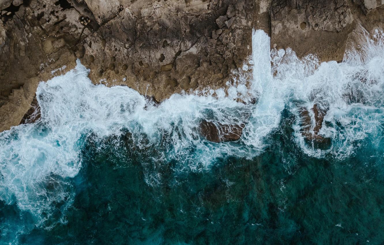 Фото обои море, волны, пейзаж, природа, берег