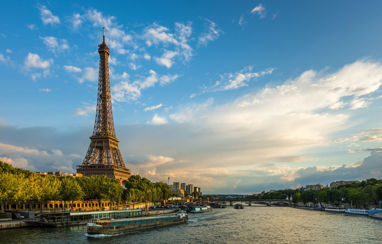 Фото обои Франция, Париж, Эйфелева башня