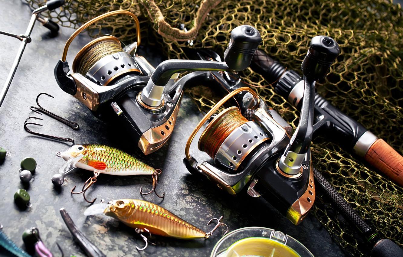 Обои rybki, удочка, грузила, снасти, боке, леска, рыбалка, сеть, крючки. Разное foto 6