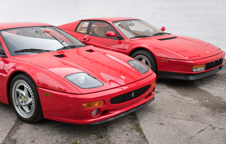 Фото обои Classic, Supercars, Ferrari F355, Ferrari Testarossa