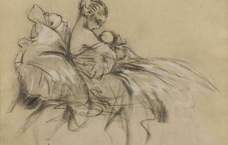 Фото обои Louis Icart, литография, Молодая мать с ребенком