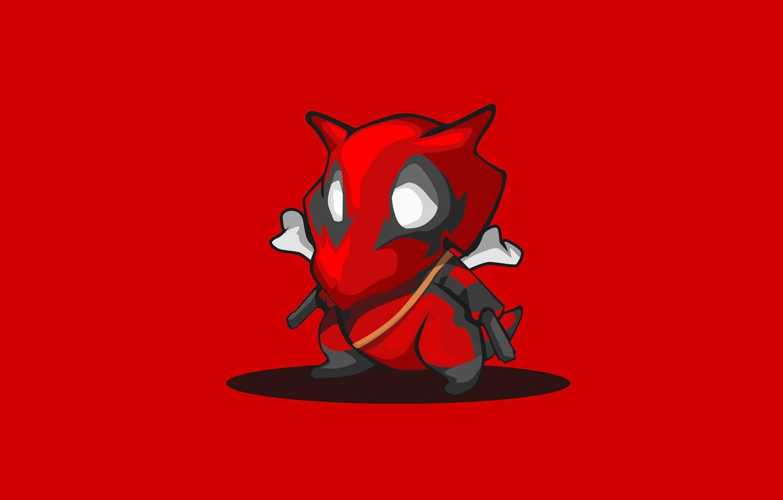 Фото обои красный, фон, минимализм, Покемон, Pokemon