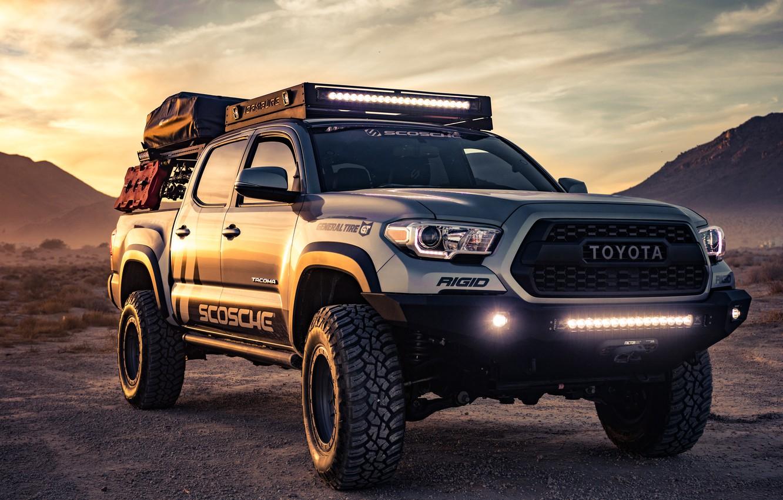 Фото обои Toyota, Custom, Tacoma, Toyota Tacoma Custom