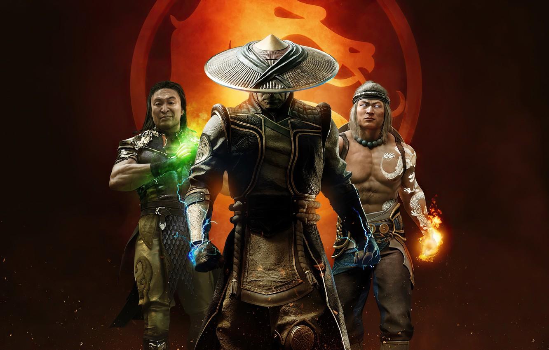 Фото обои трио, мужики, Mortal Kombat, Mortal Kombat 11