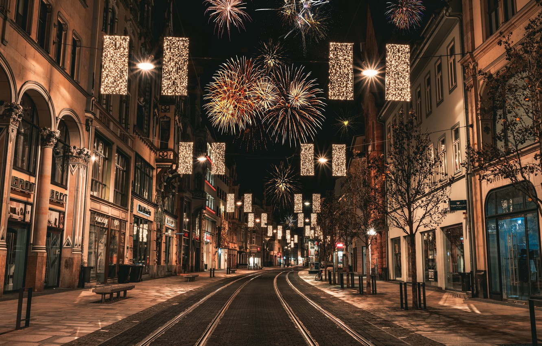 Обои улица, ночь, дома, фонари, германия, дороги. Города foto 16