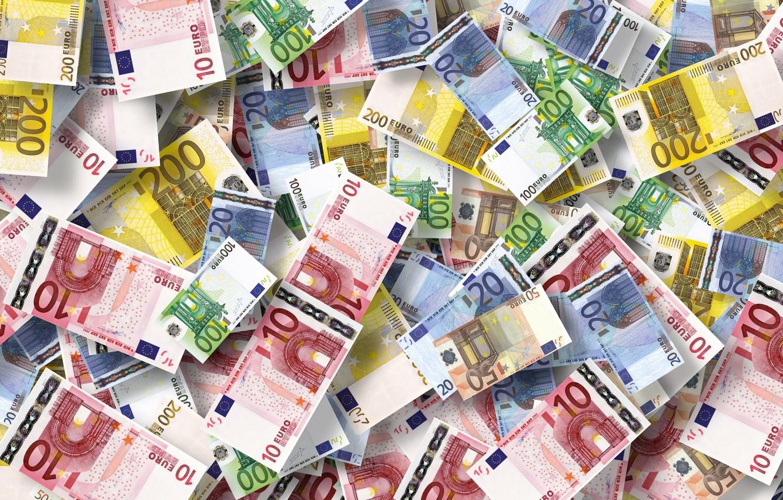 Фото обои евро, валюта, купюры, экономика