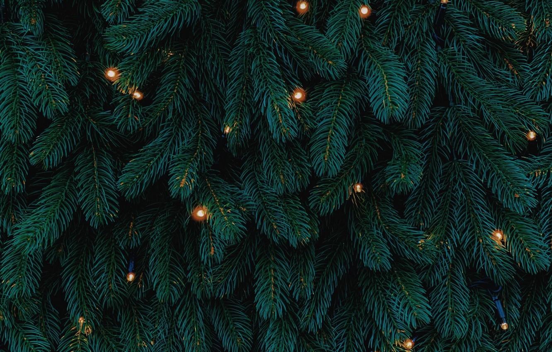 Фото обои огоньки, Рождество, Новый год, ёлка, гирлянда, праздники