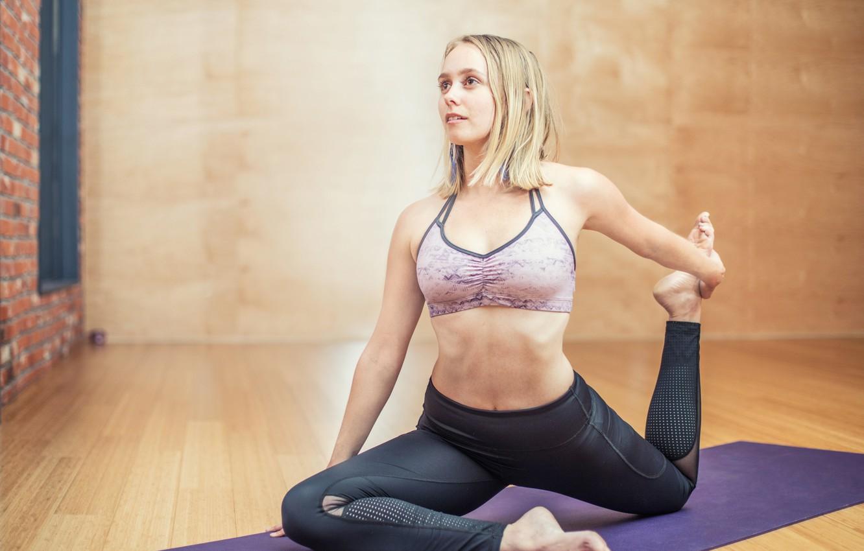 Фото обои девушка, Стиль, йога, фитнес