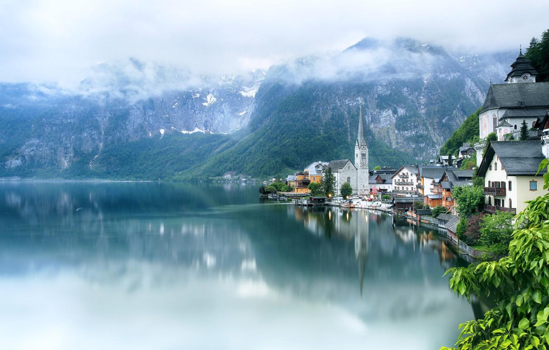 Обои hallstatt, lake hallstatt, австрия, гальштат, austria, alps. Города foto 13