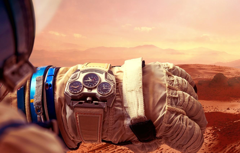 Фото обои Часы, наручные часы, Константин Чайкин, Konstantin Chaykin, Mars Conqueror, часы с марсианским временем, Konstantin Chaykin …
