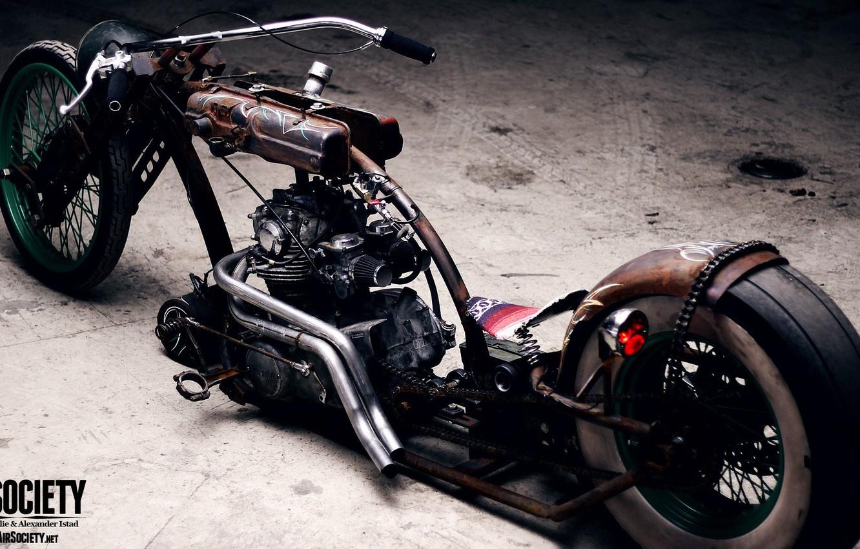 Фото обои Chopper, Bike, Custom, Motorbike