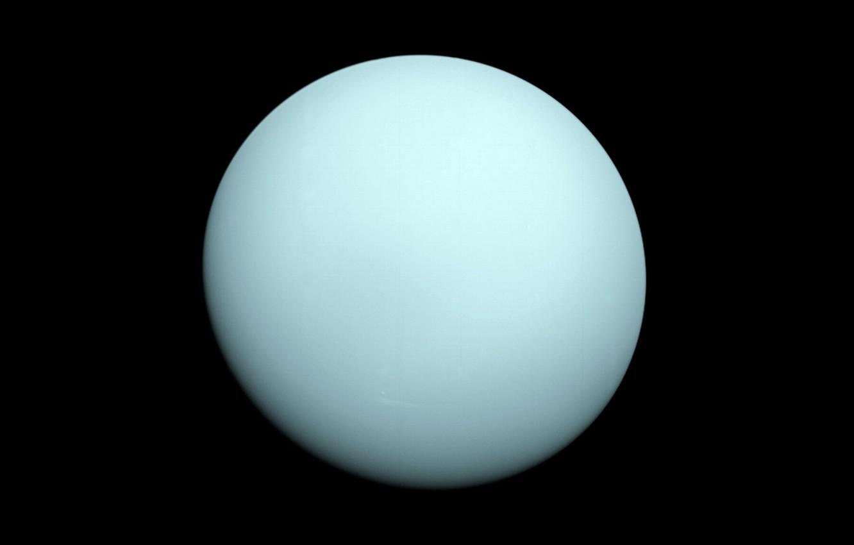 Фото обои планета, Уран, 1986 год, Вояджер-2