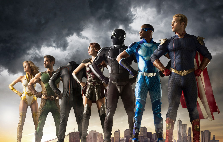 Фото обои Супергерои, Отряд, Пацаны, Amazon Prime Video, The boys, Эрик Крипке, Антагонисты, Дэн Трахтенберг, Sony Pictures …