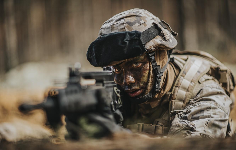 Фото обои оружие, солдат, Latvian Army