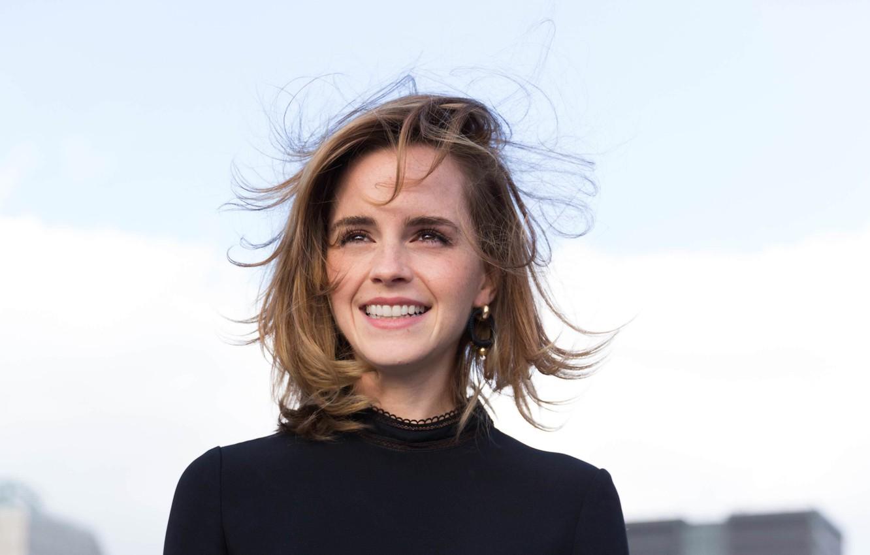 Фото обои девушка, актриса, girl, Эмма Уотсон, Emma Watson, smile, actress
