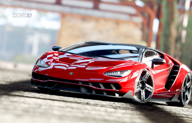 Фото обои Lamborghini, Centenario, LP770-4, Forza Horizon 4, Lamborghini Centenario LP770-4