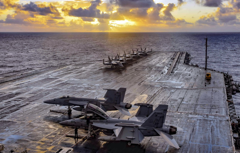 Фото обои aircraft carrier, USS Theodore Roosevelt, CVN 71
