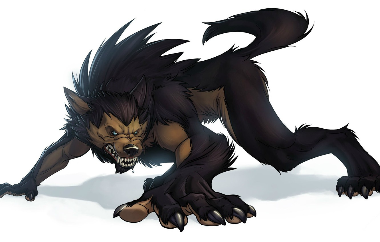 Обои рычит, Оборотень, werewolf, wolf. Разное foto 12