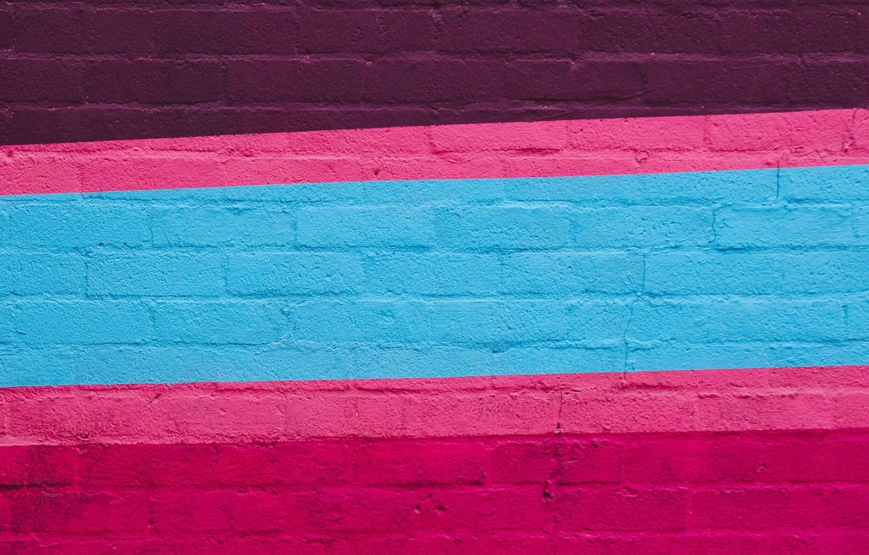Фото обои линии, полосы, стена, цветные, краска, кирпичи