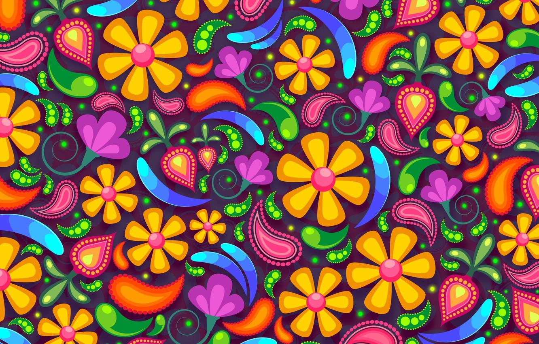 Фото обои цветы, фон, узоры, графика, текстура