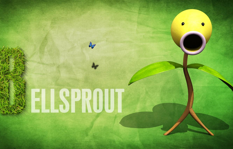 Фото обои растение, росток, покемон, pokemon, травяной, белспрут, Bellsprout