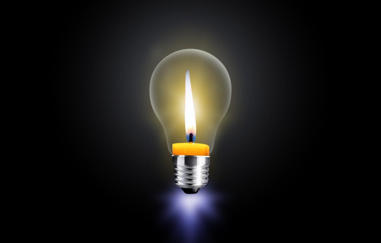 Фото обои light, energy, candle, bulb
