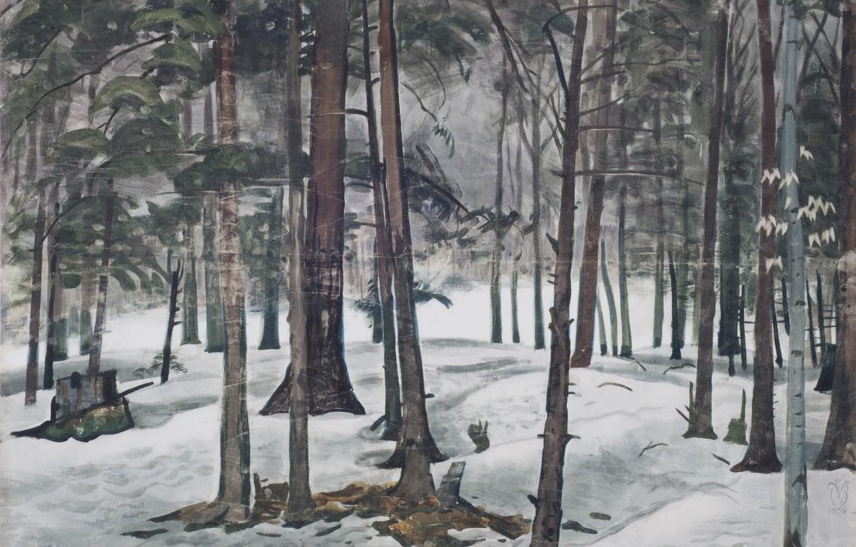 Фото обои 1936, Charles Ephraim Burchfield, Snow Light