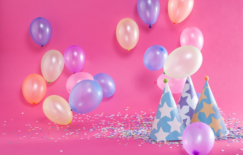Фото обои фон, день рождения, праздник, шары