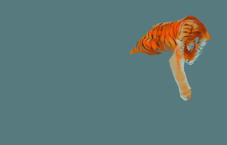 Фото обои полоски, тигр, хищник, арт, Tiger pack, Maria Kuzmicheva