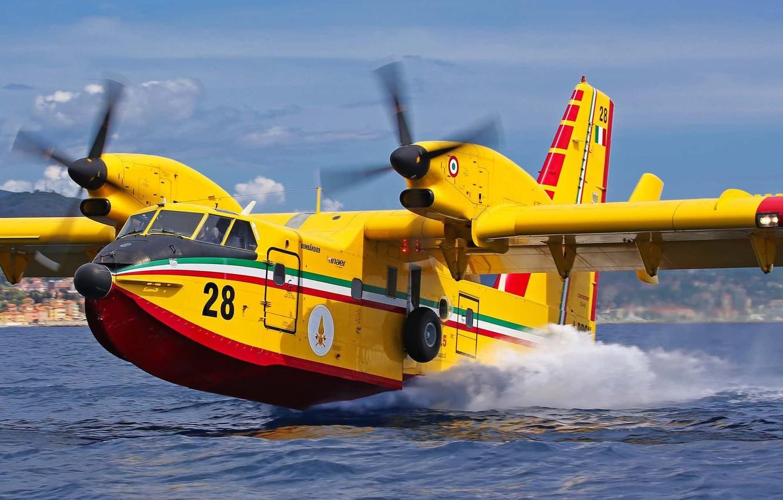 Обои амфибия, Bombardier, Самолёт, Вода. Авиация foto 6